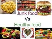 JUNK FOOD VS HEALTHY FOODD