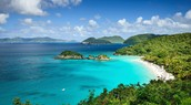 A beach at the Virgin Islands