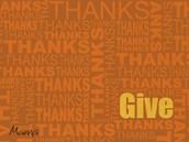 Thanksgiving Thanks!