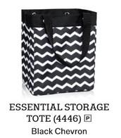 Essential Storage Tote - Black Chevron