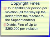 The fine for copyrighting can be $250,000!