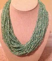 Mint seed bead necklace