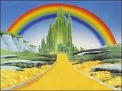 Just follow the yellow brick road!