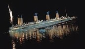 the Titanic at nigth