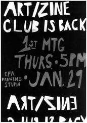 ART/ZINE Club is Back!