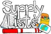Needed supplies