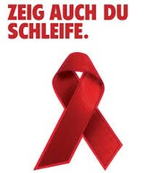 Rote Schleife Symbol für den Kampf gegen AIDS