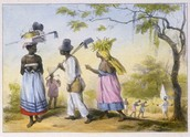 Plantation Slaves Going to Work, Suriname, 1851