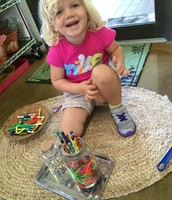 Kate was proud of her magnet tower