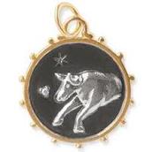 SOLD !!!!!      Tarus Zodiac Charm