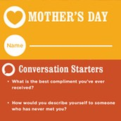 mother's day conversations at the dinner table - family dinner project