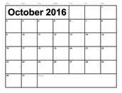 October Dates At A Glance
