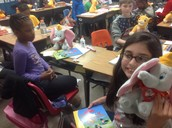 Kohls and family in Teri Childress' class partnered to give students books and a stuffed animal.