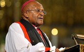 Desmond Tutu preaching as Archbishop of Cape Town.