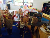 Cheering for 100th day!