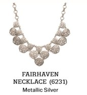 Fairhaven Necklace in Metallic Silver