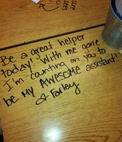 Surprise your students with a nice note on their desk!