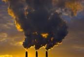Polluted air