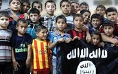 Children Standing with ISIS Flag