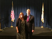 Sally White and Tom Torlakson