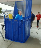 Mrs. Hatland in the dunk tank!