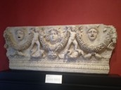 Sarcophagus Panel with Medusa and Theader Masks
