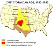Map Of The Dust Bowl