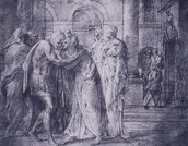 A Drawing for Ulysses Series at Fontainebleau: Penelope and Ulysses Embrace.