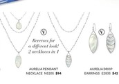Aurelia Pendant - $71, Reg - $94  Aurelia Earrings - $32, Reg - $42