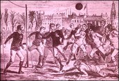 Peasants playing soccer