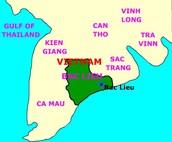 Bac Lieu, Vietnam Map