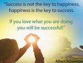 Happiness is the key to sucsess