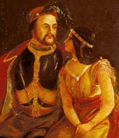 Pocahontas and John Rolfe.