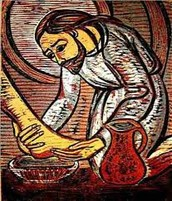 Washing of Feet on Holy Thursday, March 24th in the Church at 9 am