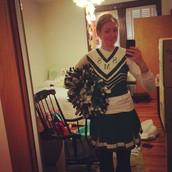 Look at this poor cheerleader