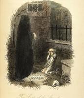 Scrooge meeting the ghost