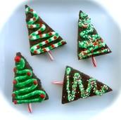 Christmas tree browines