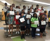 7th Grade Citizenship Award Winners!