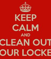 Locker Clean Out Schedule