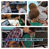 Lego WeDo  with Year 1 & 2 students