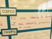 1st Grade Science Learning Targets