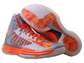 Gray and Orange Hyperdunks