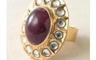 Priya Ruby Ring