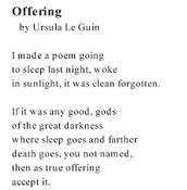 Offering by Ursla Le Guin