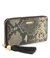 Mercer Zip Wallet - Black Snake