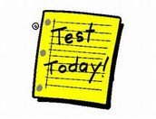 Tuesday, September 23rd Testing Schedule:
