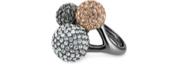 Soiree Trio Ring - Hematite Adjustable Sizing
