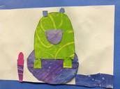 Mrs. Spaulding's 1st Graders make paper frogs!