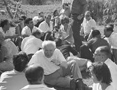 בן גוריון מדבר עם העם