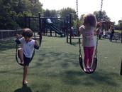 Swing time at Muriel Hepner